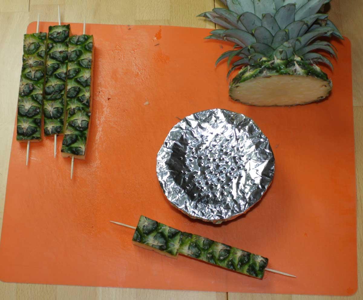 Fruchtkopf lochen und zusamenbauen
