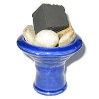 fertiger Steinkopf mit Kohle