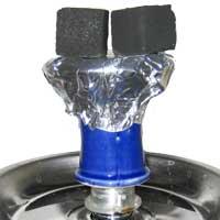 Tabakkopf mit Kohle