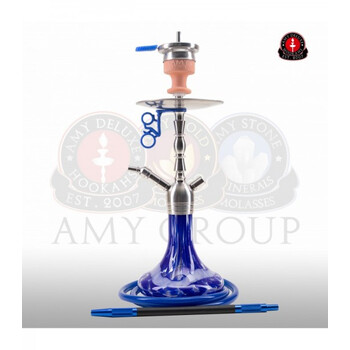 AMY DELUXE Shisha Little Hammer SS10 Blau RS Silber