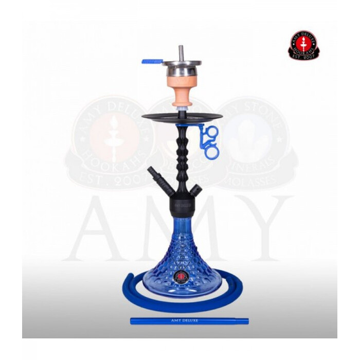 AMY DELUXE Shisha Alu Antique Berry S 072.02 Blau RS Schwarz