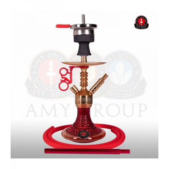 AMY DELUXE Shisha Alu Antique Berry Mini 072.03 Rot RS Gold